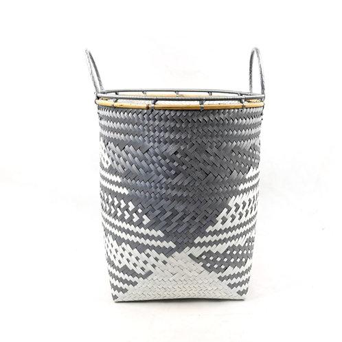 Laundry Basket (L)-Grey/White