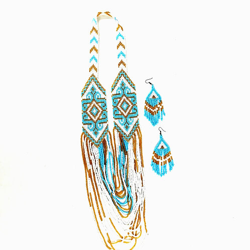 Beads Necklace with earrings