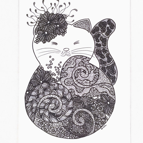 Artprint - Doodly Cat*