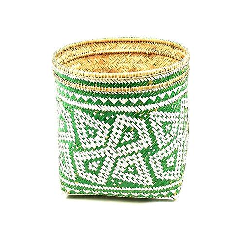 Padi Basket Green White
