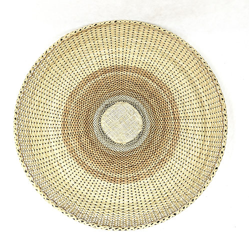 "Rattan Fan Tray 17"" Plain"