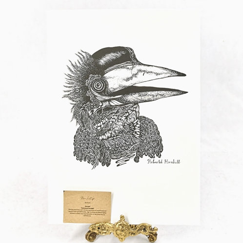 Artprint -Helmeted Hornbill*