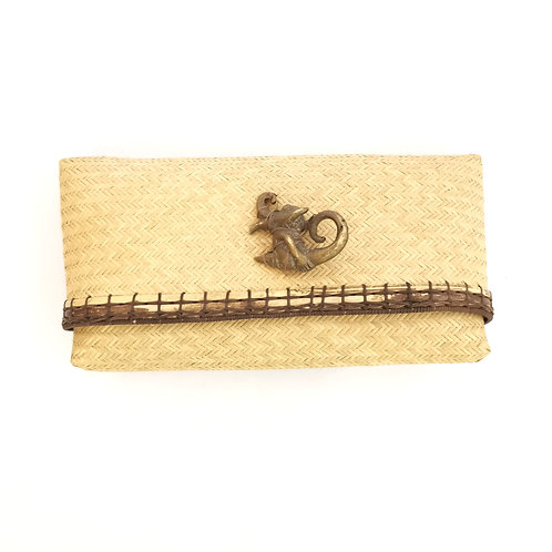 Clutch with brass buckle