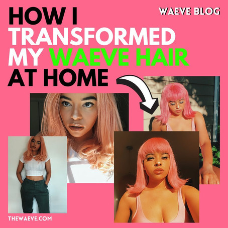 how i transformed my waeve hair at home with @its.tiiso