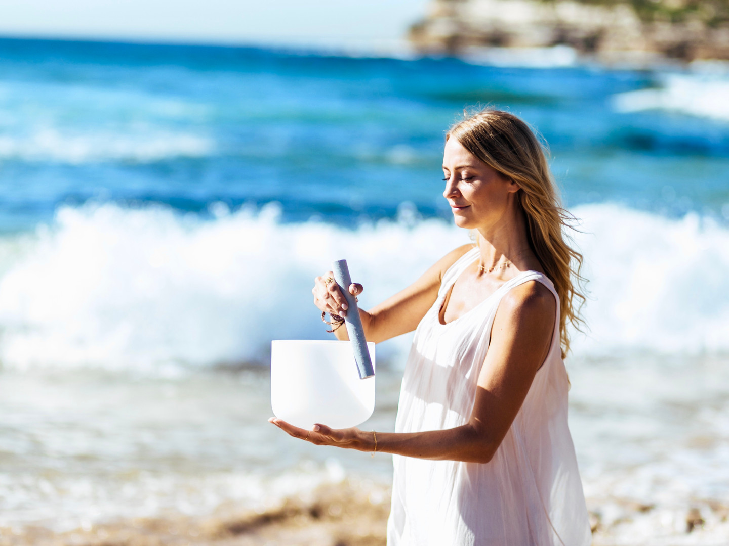 We offer Private Sound Healing sessions on Bondi Beach!