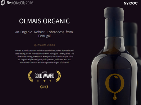 Olmais gets Gold at World Best Olive Oils