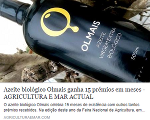 Olmais Olive Oil 15 awards in 15 month
