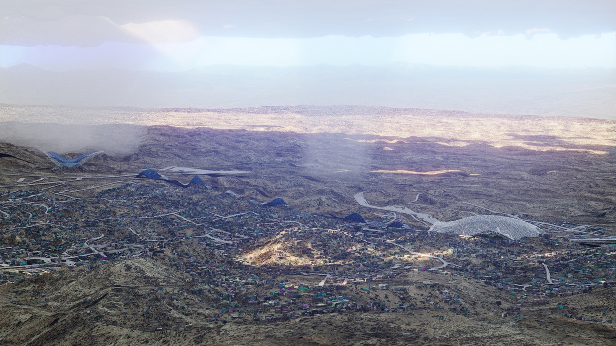 CGI Aerial Shot for Competition at the border Mexico-New Mexico