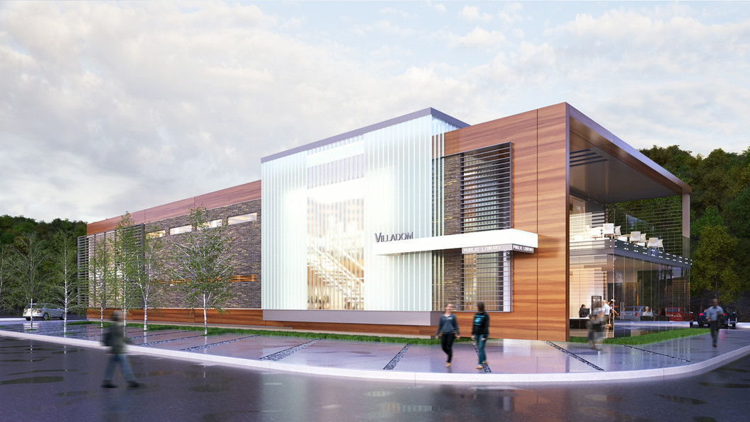 Photorealistic renderings for library in Long Island, NY