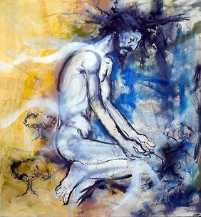 Christ, mont des oliviers, peinture, nelson, cuba, religion, art contemporain