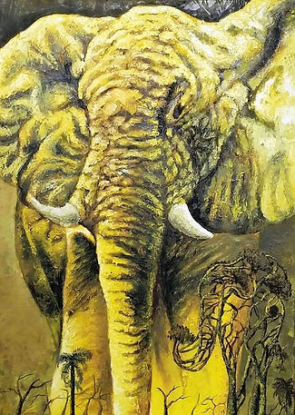 Cuba, l'espoir, peinture galerie intermundos, Osmiel el docto, campagne, nature, elephant