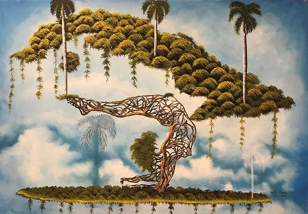 Cuba, l'espoir, peinture galerie intermundos, Osmiel el docto, campagne, nature