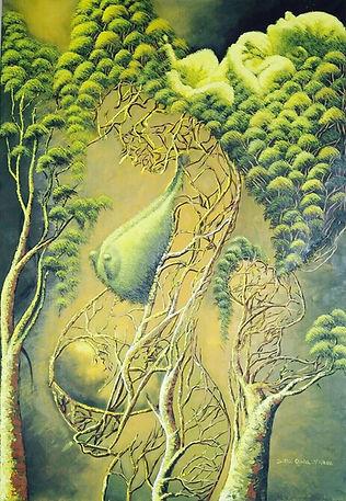 Cuba, l'espoir, peinture galerie intermundos, Osmiel el docto, campagne, nature, femmes enceinte, enfants