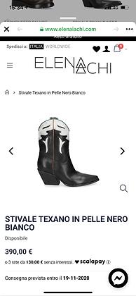 Elena iacchi bootes texane noir liseret vert