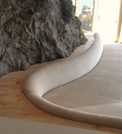 custom sofa and shelf