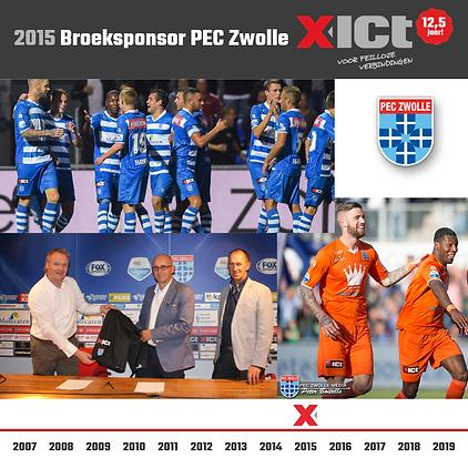 X-ICT 12,5 jaar - Sponsoring PEC 2015.pn