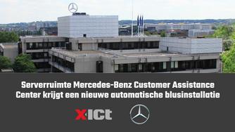 Serverruimte Mercedes-Benz Customer Assistance Center krijgt een nieuwe automatische blusinstallatie