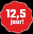 12,5 jaar logo transparant met witte let