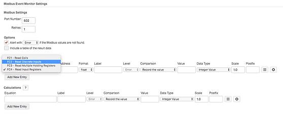 Modbus event monitor | Modbus monitoring