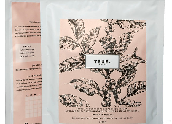 Exfoliante Original de Café TRUE. Beauty