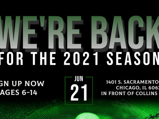 We're Back for the 2021 season