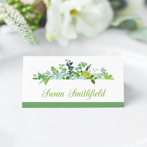 Bare Botanical Guest Name Cards