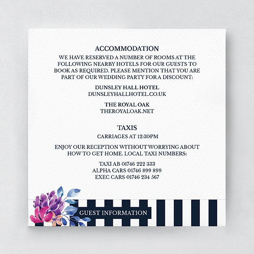 Florish Information Card