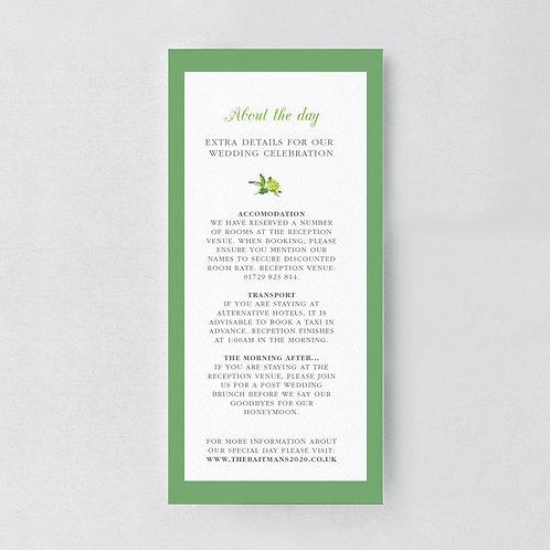 Bare Botanical Information Card