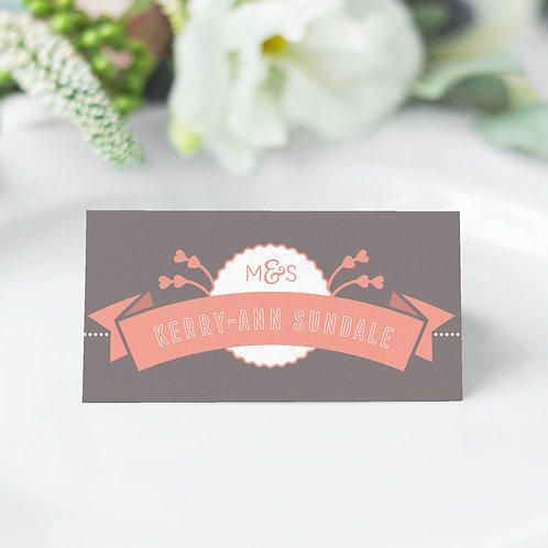 Love Story Guest Name Cards