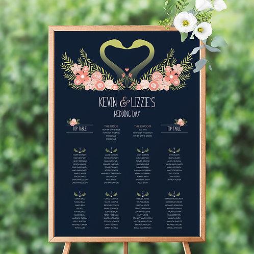 Flora Elegance Table Plan