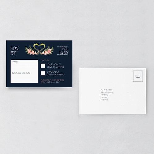 Flora Elegance RSVP Postcard