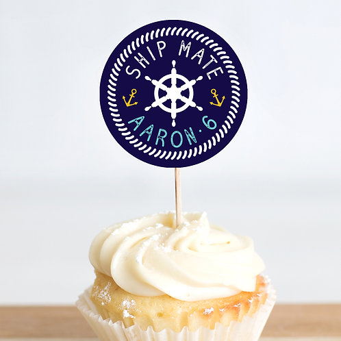 All Aboard Cupcake Toppers x 25