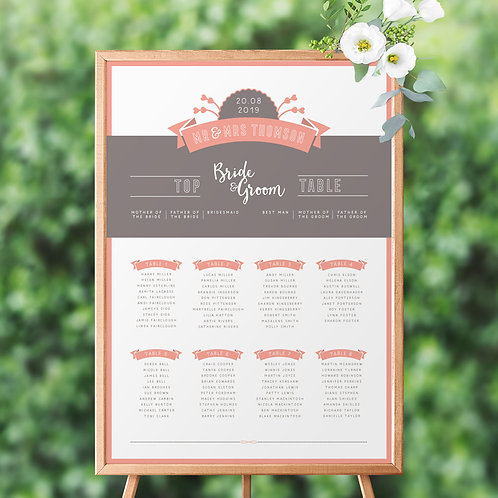 Love Story Table Plan