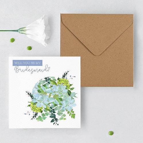 Will you be my Bridesmaid Botanical Greeting Card