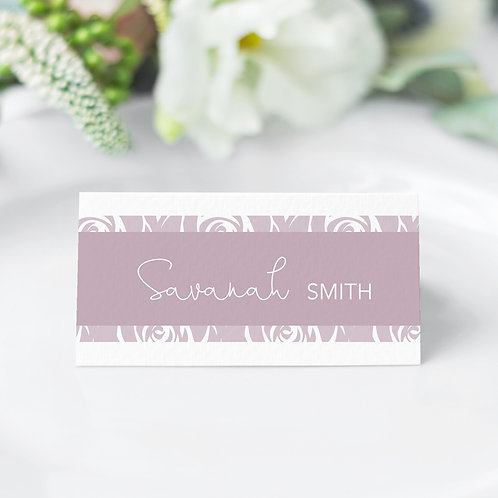Roses Poses Guest Name Cards