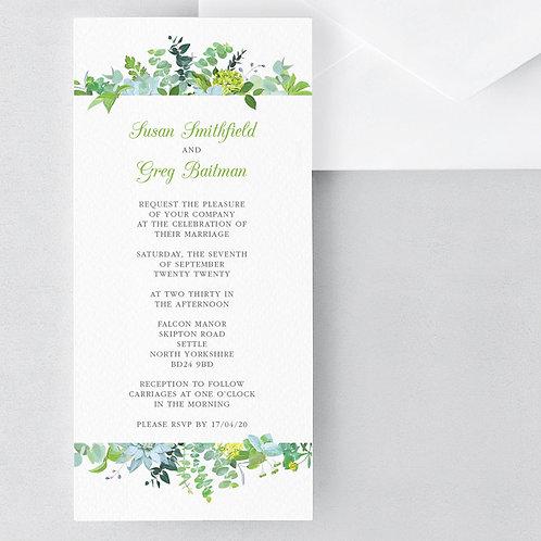 Bare Botanical Invitation