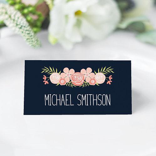 Flora Elegance Guest Name Cards