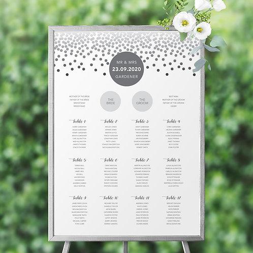 Confetti Table Plan