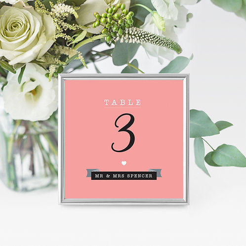 Dotty Table Name/Number Card
