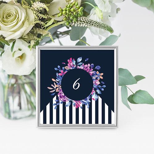 Florish Name/Number Card