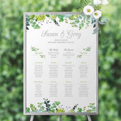 Bare Botanical Table Plan