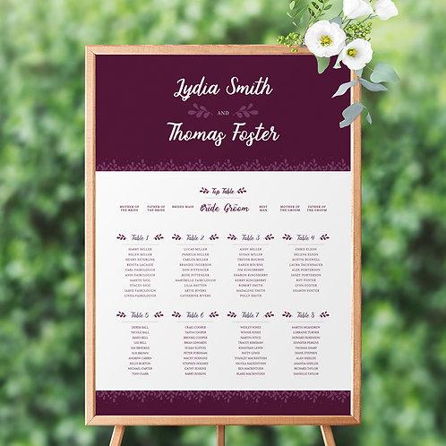 Primavera Table Plan