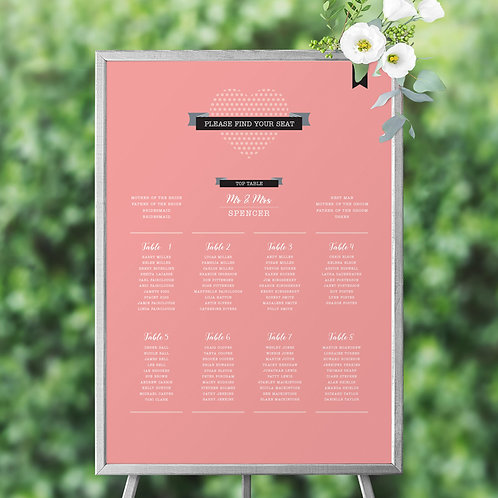 Dotty About Each Other Table Planner