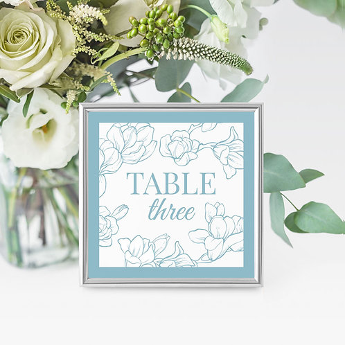 Magnificence Table Name/Number Card