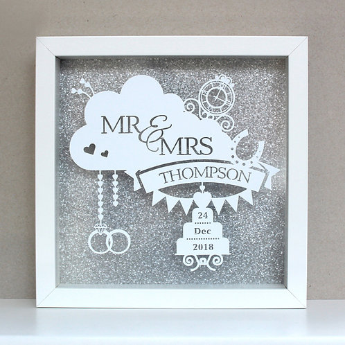 Wedding Day Personalised frame