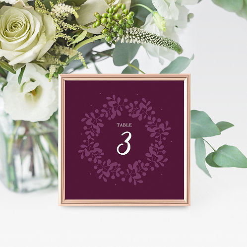 Primavera Table Name/Number Card