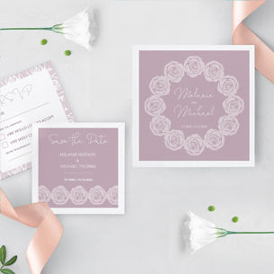 A beautiful floral wedding invitation and stationery