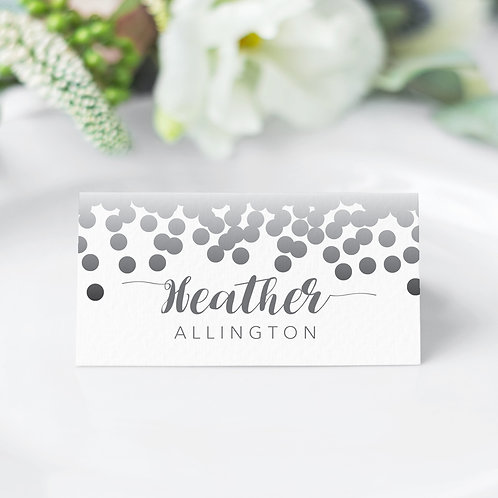 Confetti Guest Name Cards