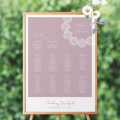 Roses Poses Table Plan