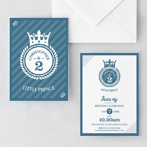 Little Prince Magestic Invitations